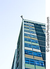 Eye in the Sky - CCTV cameras atop of a dilapadated 1960' hi...