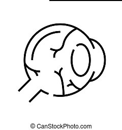 Eye inner structure line icon, concept illustration, outline symbol, vector sign, linear symbol.