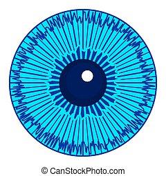 Eye iris icon