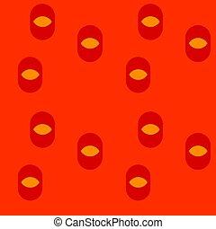 Eye irregular seamless pattern. For print, fashion design,...