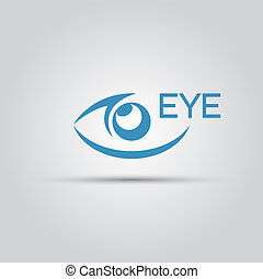 Eye isolated vector abstract icon