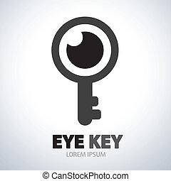 Eye key symbol icon