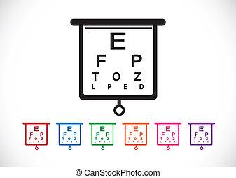 eye la carta, prueba, ilustración