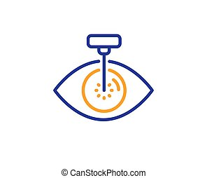 Eye laser surgery line icon. Oculist clinic sign. Optometry vision. Vector