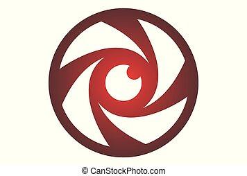 eye lens camera logo