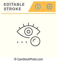 Eye lens line icon