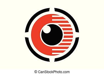 eye lens vision abstract logo icon