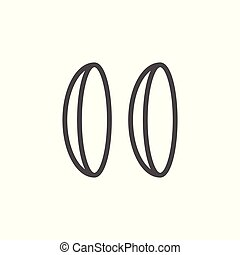 Eye lenses line icon