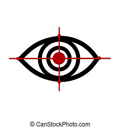 Eye logo 3 - Vector illustration : Eye logo sketch on a ...