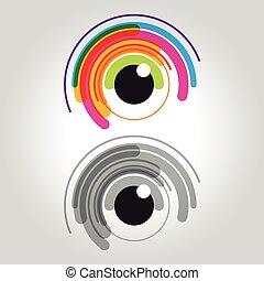 eye logo, icon and symbol vector illustration