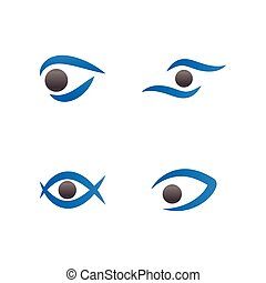 Eye logo icon design template vector