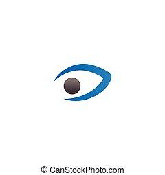 Eye logo icon design template vector
