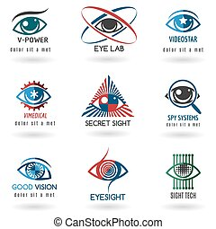 Eye logo set
