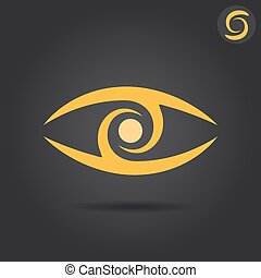 Eye logo sign
