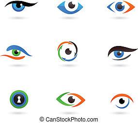 Eye logos and icons