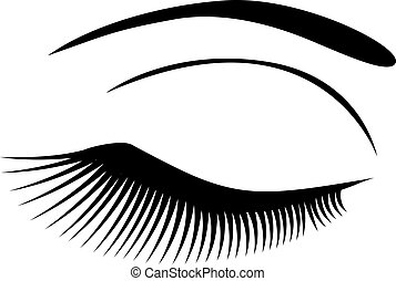 eye long lashes - vector eye with long lashes