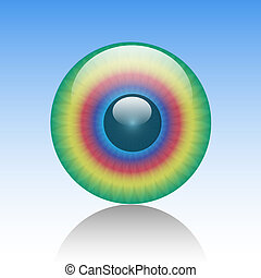 Eye-Look-Abstract-Illustration-Pupil-Cycle-Color-Background