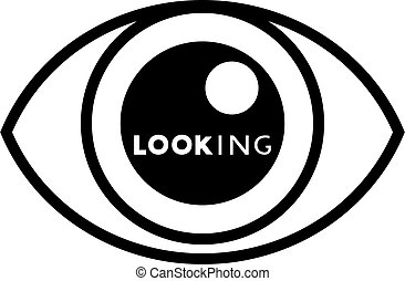 eye looking symbol