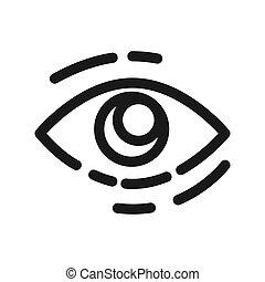 eye looking vector illustration