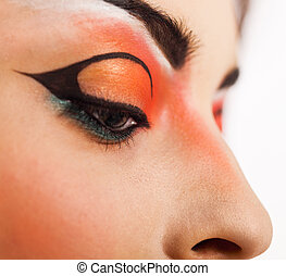 Eye make up. close up