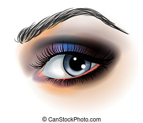 Eye make up vector illustration