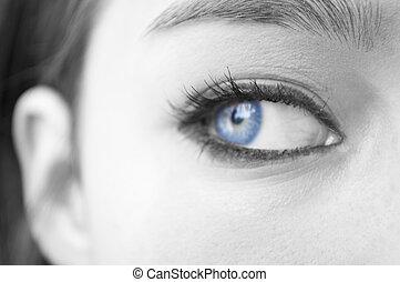 Eye makeup macro shot