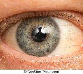 eye male. macro