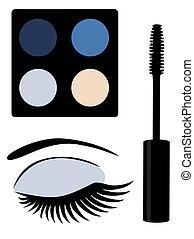 eye mascara blue