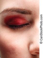 Eye of a woman closeup