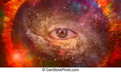 Eye of God in vivid universe