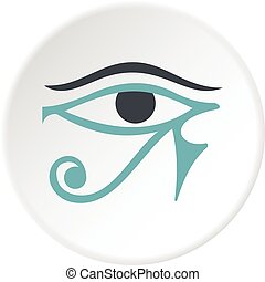 Eye of Horus icon circle