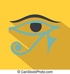 Eye of Horus icon, flat style