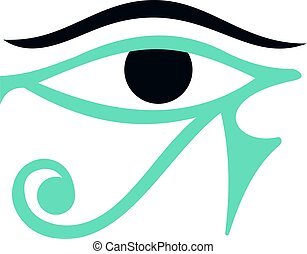 Eye of Horus icon isolated