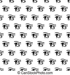 Eye of Horus seamless pattern