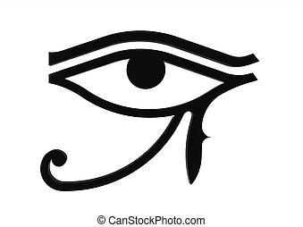 Eye of Horus symbol of the egyptian god Horus, hieroglyph