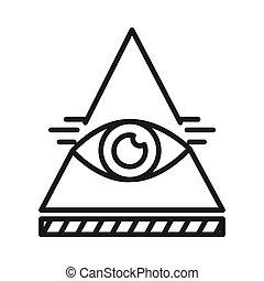 eye of profidence illustration design