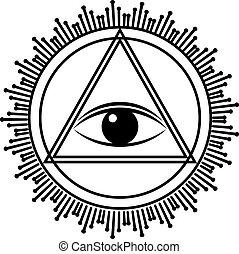 Eye of Providence sign.