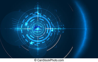 eye of technology - abstract technology background with eye...