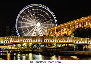 Eye of the Emirates - ferris wheel in Al Qasba in Shajah,...