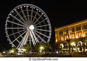 Eye of the Emirates - ferris wheel in Al Qasba in Shajah, ...