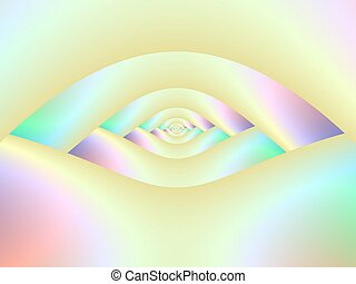 Eye of the Labyrinth - Digital abstract image with a...
