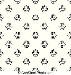 Eye palm pattern seamless vector