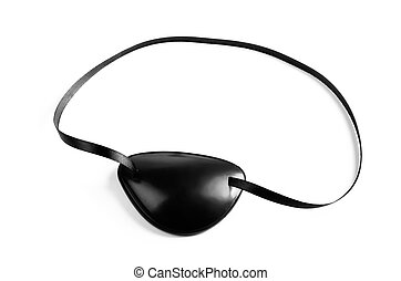 Eye Patch - Black pirates eye patch isolated on white