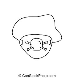 Eye patch icon, outline style