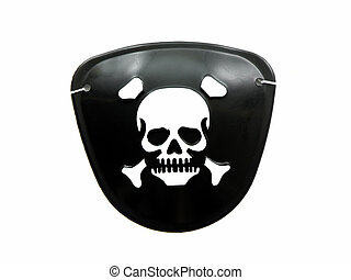 Pirate eye patch isolated on a white background