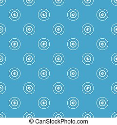 Eye pattern seamless blue
