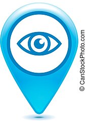 Eye pointer icon on a white background - vector illustration