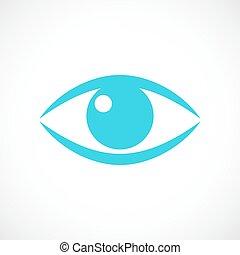 Eye pupil icon - Eye pupil vector icon