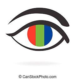 Eye RGB Icon