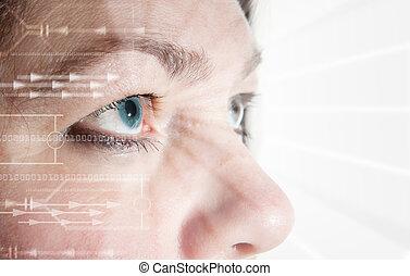 eye scan iris biometric